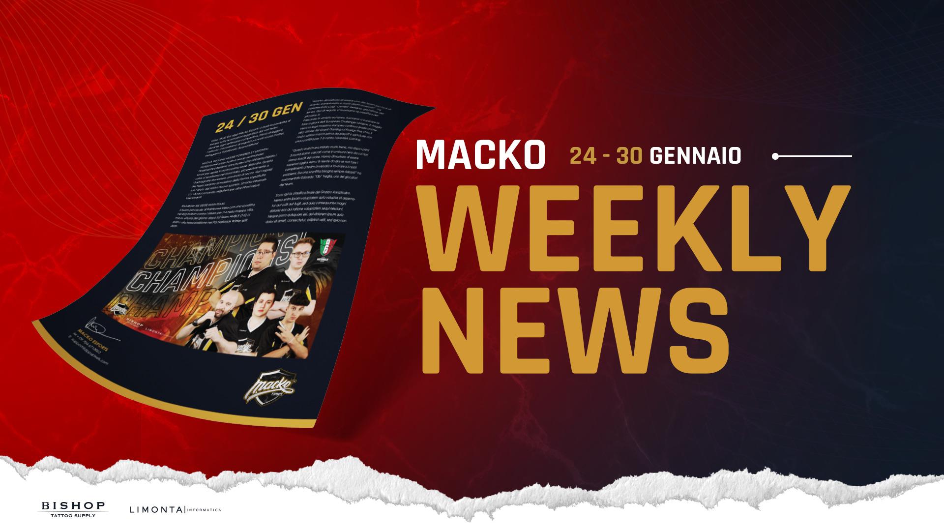 MACKO weekly news